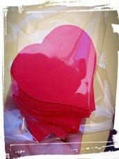 set 65 fustellati cuore cartoncino etichette tag decorazioni bomboniere sacchettini segnaposto
