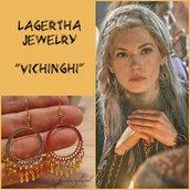 Orecchini LAGERTHA VIKINGS vichinghi cerchio oro tribale telefilm regalo pendenti
