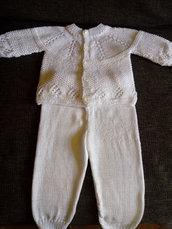 Completo unisex neonato - Set neonato - Cardigan neonato- Maglia neonato
