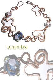 braccialetto farfalle in cuore