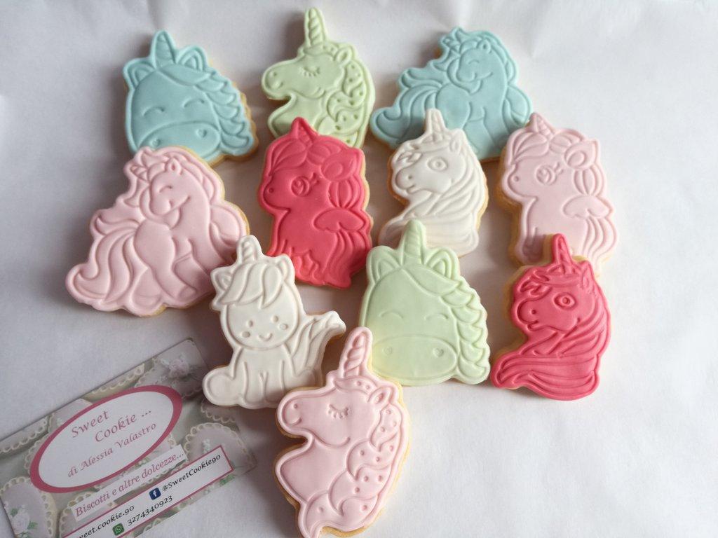 Festa a tema unicorno biscottino gadget bambini compleanno biscotto biscotti personalizzati sweet table