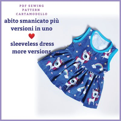 Cartamodello pdf vestito estivo-top-canotta e gonna