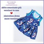 Cartamodello pdf vestito estivo-top-canotta e gonna