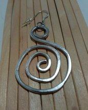 Orecchini wire spirale