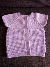 Maglia bambina lilla - maglia estiva - Maglia cotone bambina - Maglia mezza manica bambina