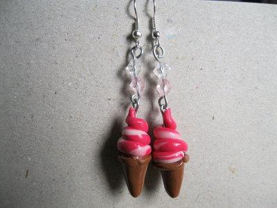 Ice cream earrings strawberry