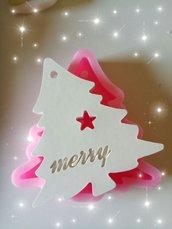 stampo silicone albero di natale per gessetti fimo resina natale decorazioni natalizie