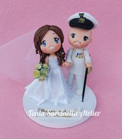 Cake topper sposi stile cartoon