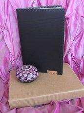 Taccuino nero grande 15x21cm e pietra mandala Il ballo dei fiori