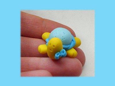 Tartaruga con fiocco-bomboniera  nascita battesimo