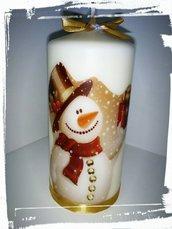 candela stampa personalizzata decorazione natalizia natale regalo segnaposto