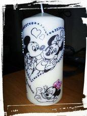 candela stampa personalizzata topolino minnie cartoni animati decorazione regalo segnaposto