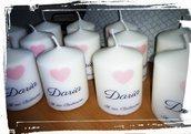 candela stampa personalizzata bomboniera battesimo comunione regalo segnaposto