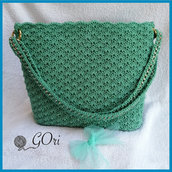 Borsa color tiffany con possibilita di tracolla