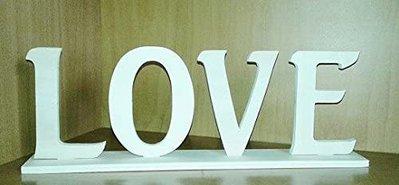 Love scritta in legno cm 11,5 x 33 spessore 8 mm