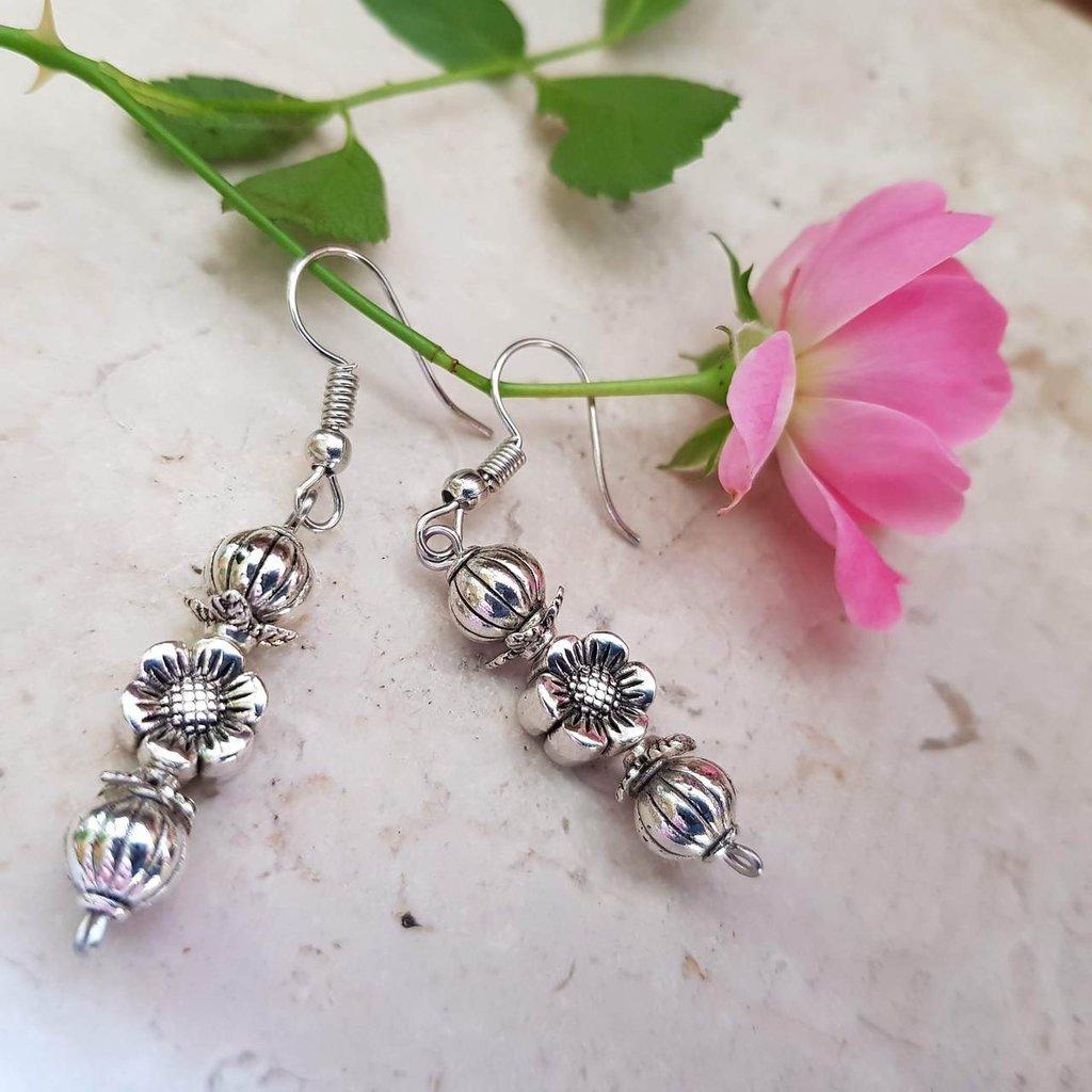 orecchini fiore anemone