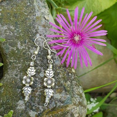 orecchini anemone foglie