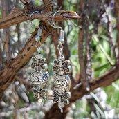 orecchini farfalle della lavanda