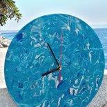 Orologio dipinto colori acrilici