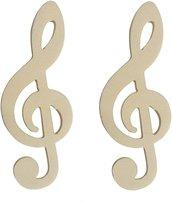 Chiave di violino in legno per il fai da te' hobby segnaposto 10 pz