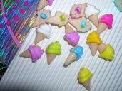 Set n.5 bottoni GELATO mm.13, mix color