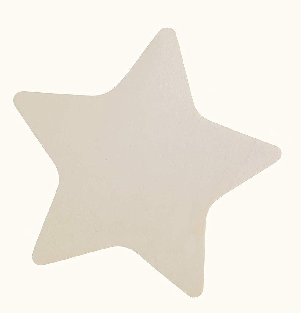 SAGOMA Base COCCARDA A Forma di Stella in Legno per Il Fai da Te 1 PZ