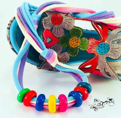 Collana arcobaleno colorato in Fimo