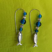 orecchini pesciolini e perle