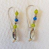 orecchini pesciolini perle piccole