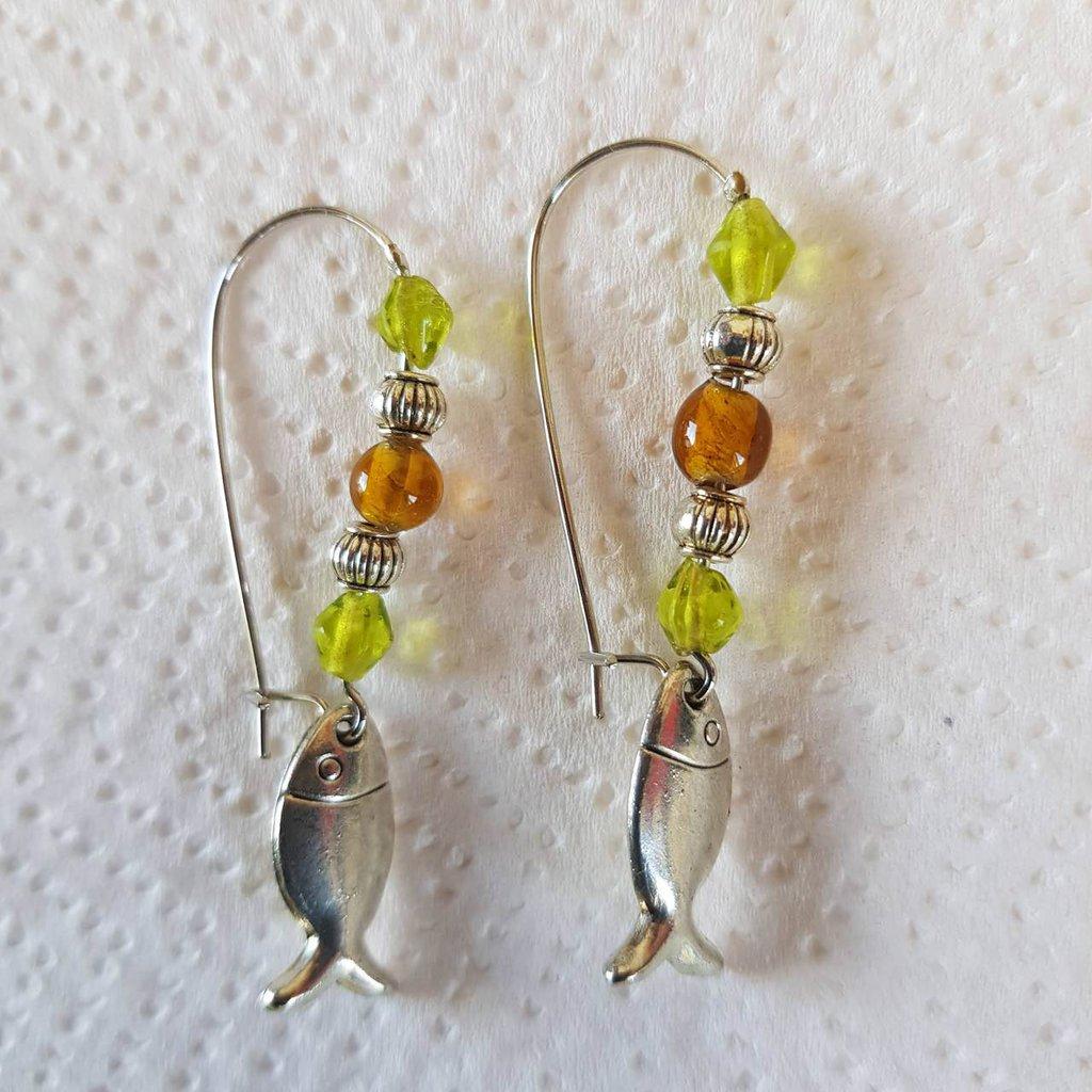 orecchini pesciolini perle piccole 2