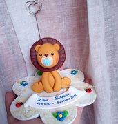 Statuina cake Topper leone fimo bomboniera Battesimo