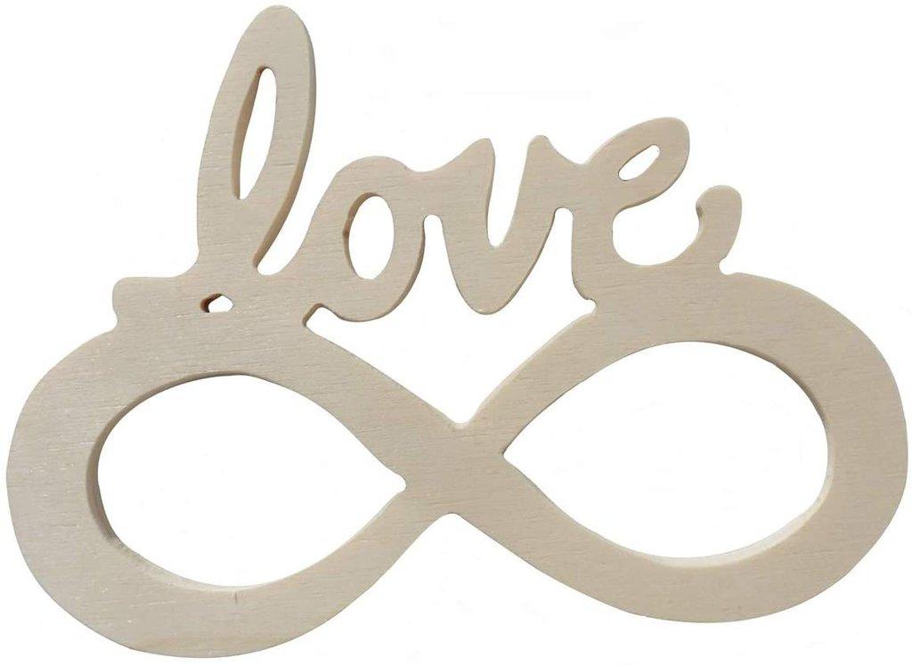 Amore infinito, in legno per il fai da te' hobby 4 pz