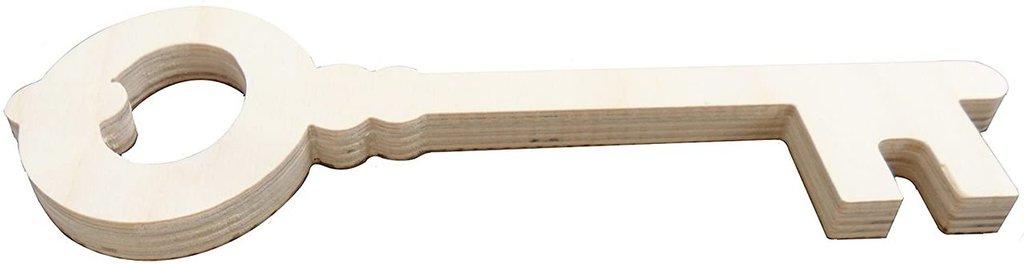 Chiave stile antico in legno per il fai da te' hobby grandi dimensioni
