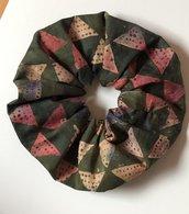 Elastici per capelli scrunchies in cotone batik