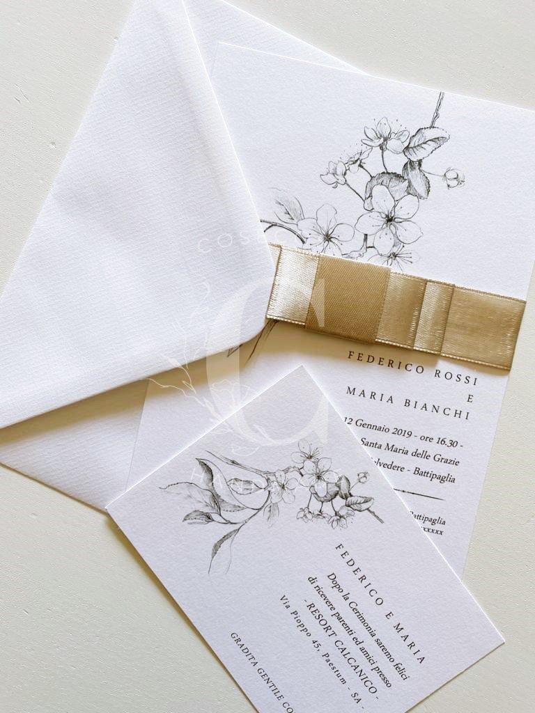PARTECIPAZIONI MATRIMONIO  -  Handmade