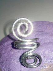 Anello in wire doppia spirale