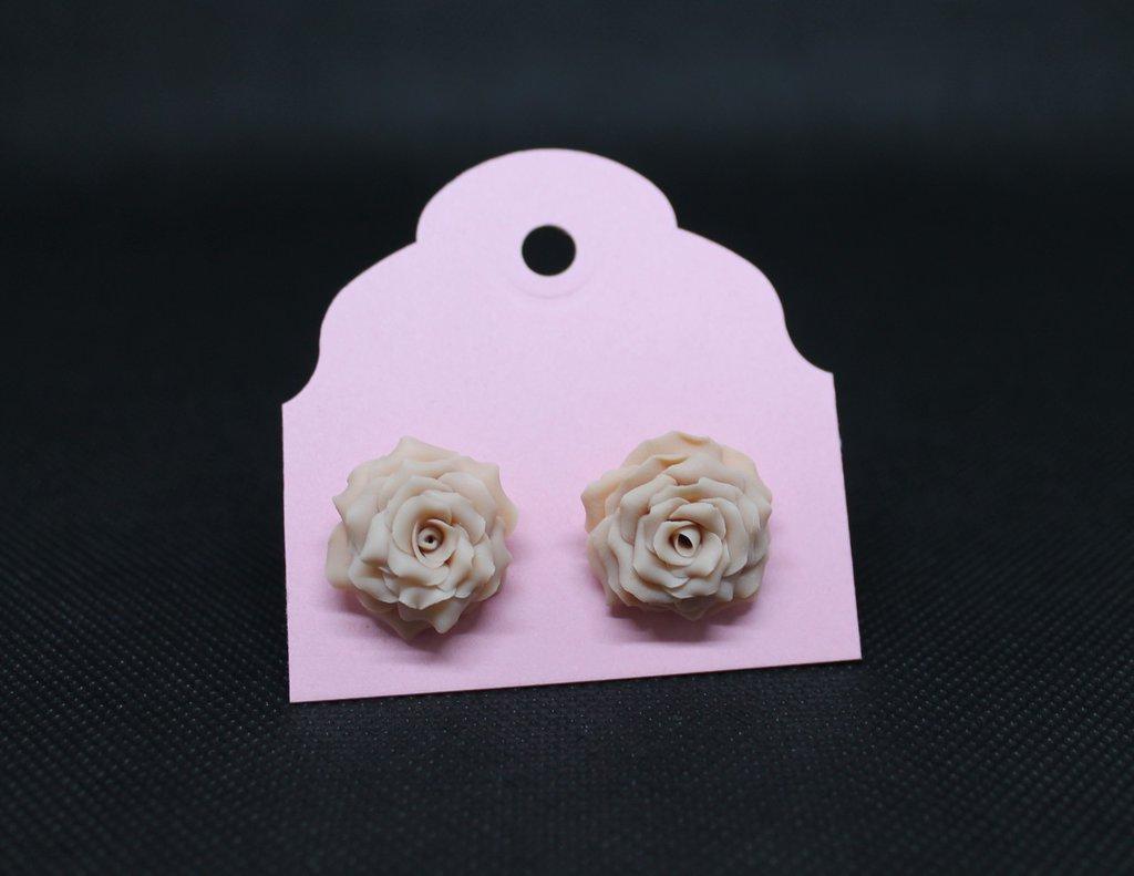 Orecchini lobo rose rosa-giallo