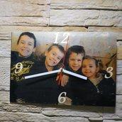 Orologio in legno personalizzato con fototrasferimento