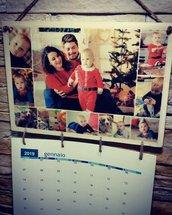 Calendario in legno con fototrasferimento