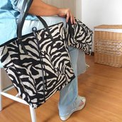 Tote bag double face animal print