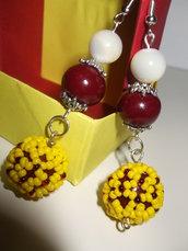 orecchini perle rivestite