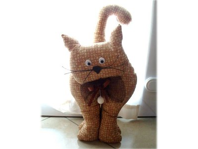 Gatto fermaporta- brown