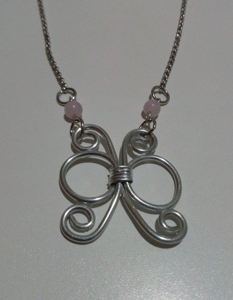 Collana farfalla wire