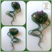 """Spilla ornamentale """"intreccio verde"""""""
