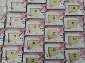 Offerta bomboniera portafoto in legno rosa con mulino