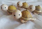 Offerta stock bomboniera tartaruga marina in ceramica dipinta a mano