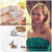 collana cuore filigrana locket Caroline forbes vampire diaries telefilm vampiri
