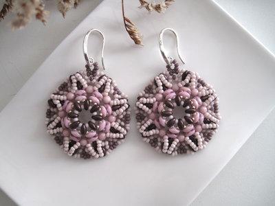"""Orecchini """"Purple Rose Tiziana"""""""