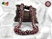 Collana Grappolo Vetro Rosso - Collezione LuZ Italy