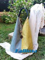 KIMONO BAG SUMMER in tessuto d'arredamento fatta a mano